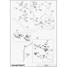 Guidon, Commandes (Husqvarna TE 125 2014)