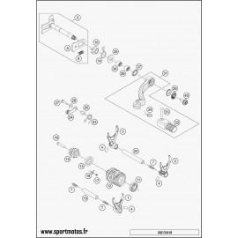 Mécanisme Chgt vitesse (Husqvarna FE 350 2016)