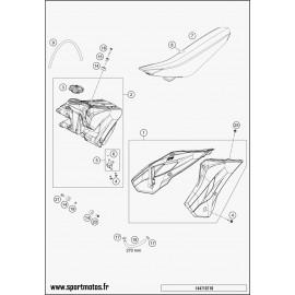 Réservoir, Selle, Cache réservoir (Husqvarna TC 85 19 p 2014)