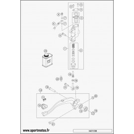 Commande de frein arrière (Husqvarna TC 85 17 p 2014)