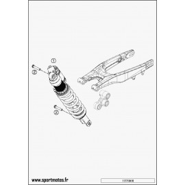 Amortisseur arrière (Husqvarna FC 450 2014)