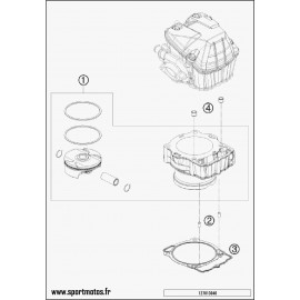 Cylindre (Husqvarna FC 450 2014)