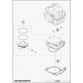 Cylindre (Husqvarna FE 450 2016)