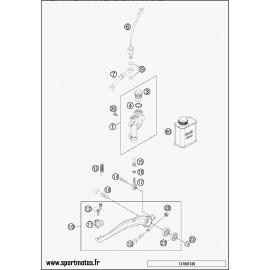 Commande de frein arrière (Husaberg TE 125 2014)
