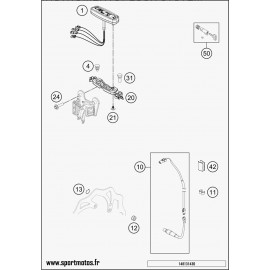 Instrumentation, blocage colonne (Husaberg TE 125 2014)