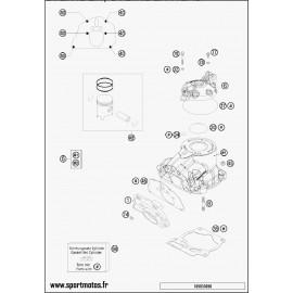 Cylindre, culasse (Husaberg TE 125 2014)