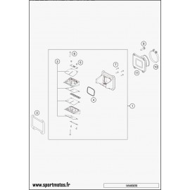 Boîte à clapets (Husaberg TE 250 2014)