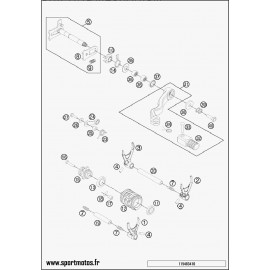Mécanisme Chgt vitesse (Husaberg TE 250 2014)