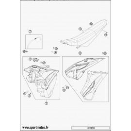 Réservoir, Selle, Cache réservoir (Husaberg FE 350 2014)