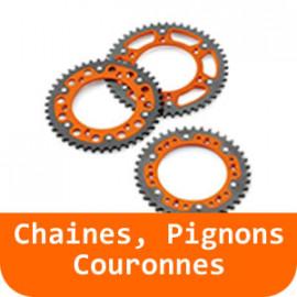 Chaines, Pignons & Couronnes - 125 RC-Orange