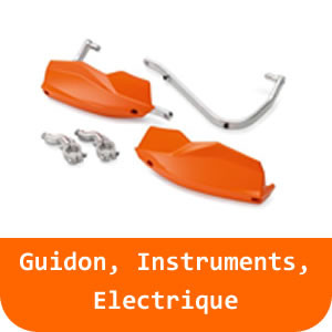 Guidon & Instruments & Electrique - 125 DUKE-White